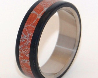 Titanium Wedding Ring, Mens Rings, Womens Ring, Unique Wedding Ring, Eco-Friendly Wedding Rings, Popular Rings - AKITA