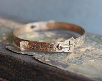 Tiny Victorian Buckle Bracelet  / Antique Doll Infant Baby Jewelry