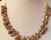 Druzy Quartz Cluster Necklace