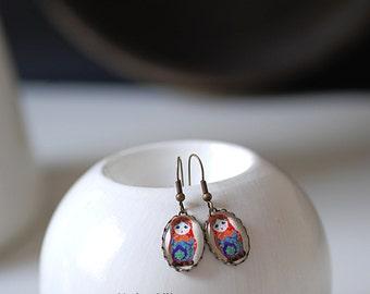 Matryoshka Vintage Earrings