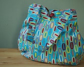 Purse or Project Bag with Colorful Geometric Design