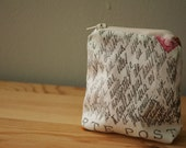 Coin Purse with Handwriting and Postmark Pattern