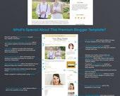 Premium Blog Design - Premade Blogger Template - Gold Eleven