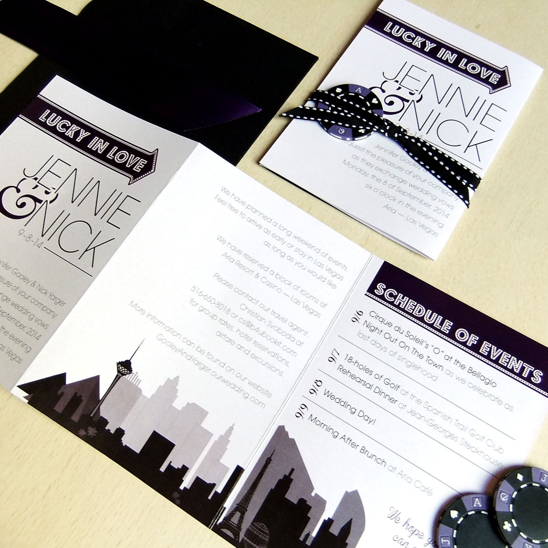 destination wedding invitations las vegas - 28 images - las vegas ...