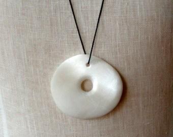 Alabaster pendant on string