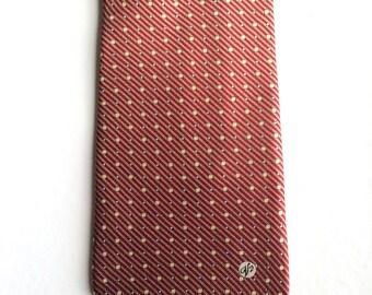 Vintage Neckties Men's 90's Versace, Silk, Red, Black, Geometric, Printed, Tie