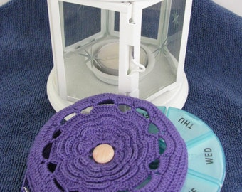 Sweet Remedy Pill Case in Violet