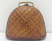 Woven Bamboo Handbag Wood Clutch Purse
