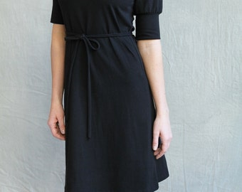 Folded Dress, Cotton Jersey, Classic Style, Ethical Fashion - made to order, one of a kind