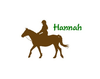 Horse decal, Name decal, Teen girls room decor, Personalized sticker, Wall words, Pony decal, Childs room decal-32 X 22 inches