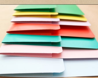 Keepsake Album Pocket - Solid Colors (8 Colors to Choose From) -  Include in your Two Giggles Baby Album