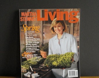 Martha Stewart Living Magazine - Second Issue - Spring 1991 - 2nd MSL ISSUE - Growing Season
