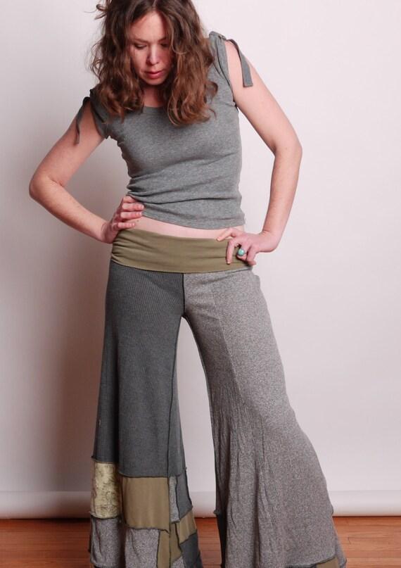 eco bohemian gaucho Pants Hippie pants palazzo pants by Jeorjia