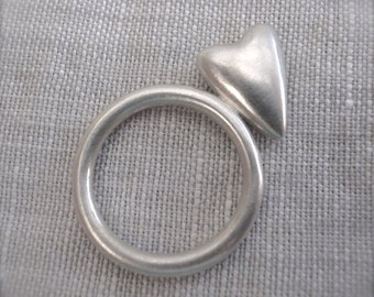 heart stack ring - sterling silver
