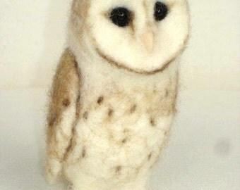 Ooak Needle Felted Owl