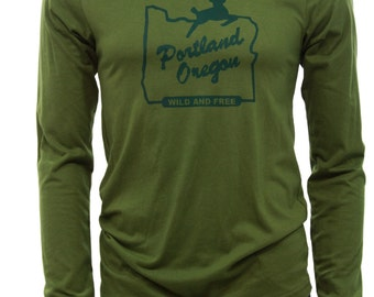 Portland Oregon wild and Free | Soft Lightweight long sleeve T Shirt
