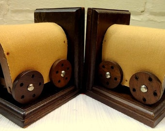 Vintage 1970s Wagon Bookends