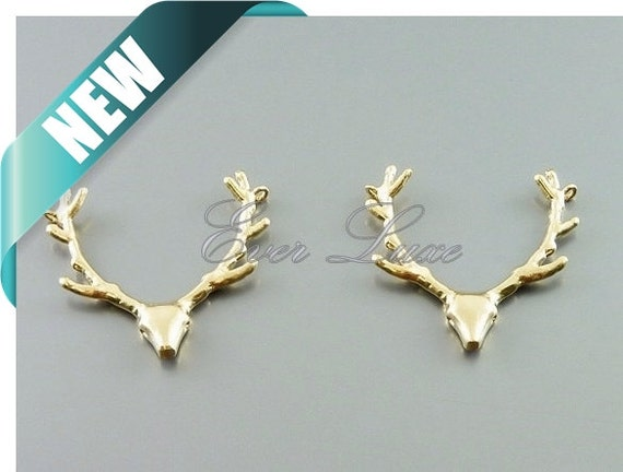 2 deer antler jewelry charms antler necklace pendants by