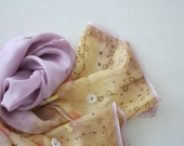 Hand painted silk scarf with express shipping