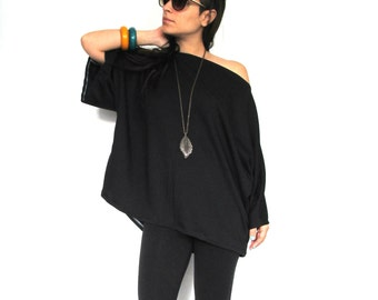 Plus Size Shirt- Black plus size shirt, Women black plus size shirt, Oversize black plus size shirt/ Women plus size shirts