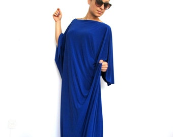 Plus Size Maxi Women Dress- Kimono plus size dress, Plus size party dress, Oversized plus size dress, Long sleeve plus size dress