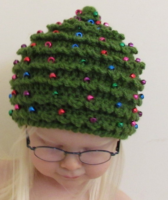 Christmas CROCHET PATTERN HAT Christmas Tree in 5 Sizes 0 to