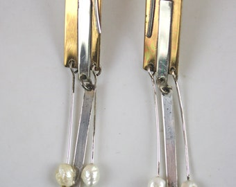 1980's Gold-filled and Sterling Silver Earrings