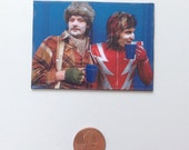 The Mighty Boosh Sips Tea On Set magnet
