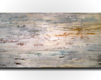 Original Large Abstract painting - 24 X 48 Inches-by Artist JMJartstudio- Ever Changing-Wall art-wall decor - Blue- painting-Oil painting