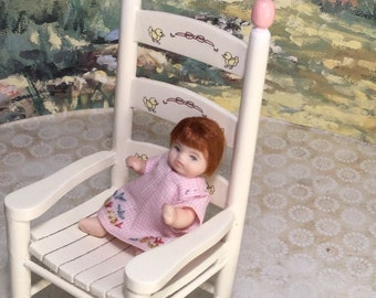 Teenie  Miniature Porcelain Doll Minis By Nana Original OOAK Baby Girl