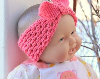 Knot Headband, Baby Girl Headband, turban headband, Hand knit Headband, Baby Bows, Headband, Girl Headband, Knot Bow, Baby, Baby gift