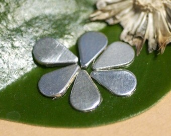 Sterling Silver Tiny Teardrop 24g Metal Blanks Shape Form - 925 - 6 pieces