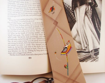 Tie - Necktie - Hand Painted Vintage Necktie - Fashion Craft Cravats - FREE Shipping in the US and Canada - Discounted Worldwide