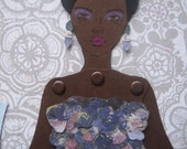 Mermaid Paper Doll 112 - Lupita in Giambattista Valli