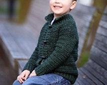 Crochet pattern, crochet childrens cardigan, boys cardigan, girls cardigan, cardigan for children, crochet, top down, zipper or button