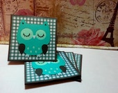 Owl- Mini Cards Thank You Cards  ( Set of 4)