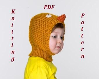 NEW PDF Little Chick Balaclava Hat Knitting Pattern