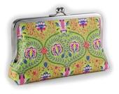 Decorative green clutch purse