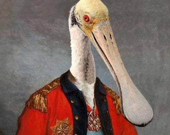 Lieutenant Bill Ajaja  - Altered Image - 8 X 10 Art Print