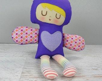 Roxy- Love Fairy doll, rag doll, handmade doll