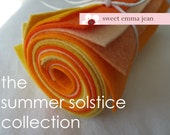 9x12 Wool Felt Sheets - The Summer Solstice Collection - 8 Sheets of Felt