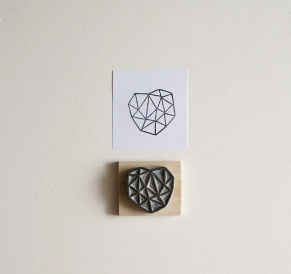 Crystal Configuration 24 - Hand Carved Stamp