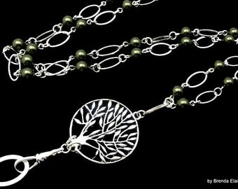 Lanyard - Tree of Life with Pearls - You choose the color