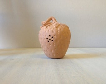 Clay strawberry terracotta pomander  fragrance, pomander, fruit, rustic 80s 1980