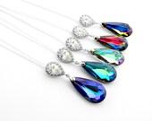Bridesmaid Proposal Necklace, Bridal Party Proposal, Bridesmaid Ask Gift, Be My Bridesmaid Proposal Gift, Swarovski Crystal Pendant Necklace
