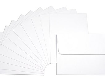 """Canvas Corp A2 WHITE ENVELOPES 4 3/8"""" X 5 3/4"""" Pkg of 12 Stationary Quality"""