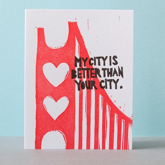 """My City is Better Than Your City 4""""x5"""" Card"""