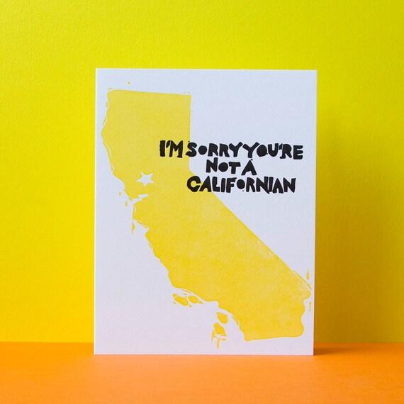 Californian Snobbery Card