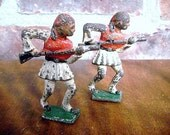 Lead Toy Soldiers Two Vintage Barclay Ethiopian Soldiers, Collectable,
