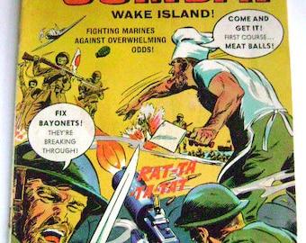 "Vintage Comic Book -DELL - War Stories ""Combat""-Wake Island-WWII Battles #18, 1965 - Comic book"